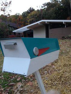 Mid-Century Modern Mailbox | modbox | Modern mailbox, Mid-century ...