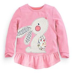 Cotton Long-sleeve T-shirt for Baby Girls for 18M-6T - More Choices Available