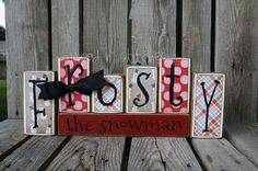 "christmas craft ideas (5) could make these so they have different letters on each side for different seasons. ""Thanks"", ""wicked"", etc.."
