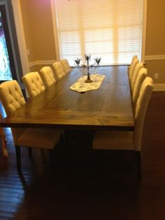 Life in the Barbie Dream House: DIY Rustic Dining Room Table Reveal!