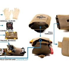 Tactical Hunting MOLLE Belt Roll Up Magazine Mag Drop Dump Pouch Bag BP-44