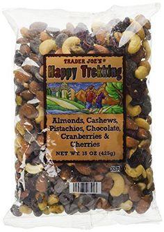 Trader Joe's Happy Trekking Almonds, Cashews, Pistachios, Chocolate, Cranberries and Cherries 15 oz. bag Low Sodium No Gluten *** Get more discounts! Click the pin : Baking supplies