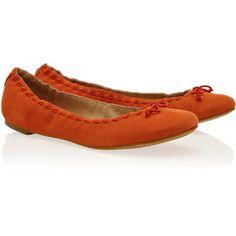 DIANE VON FURSTENBERG Nubuck Ballerina Shoes