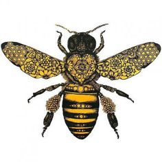 Amazing Bee Tattoo Design