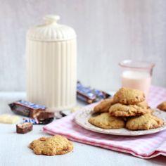 Ciasteczka ze Snickersem i białą czekoladą