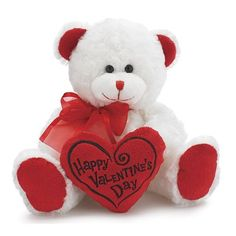 "White & Red ""Happy Valentine's Day"" Plush Teddy Bear Stuffed Animal Gift    Price: $16.88  http://www.amazon.com/gp/product/B006S3HM86?ie=UTF8=1789=B006S3HM86=xm2=thremuskforse-20"