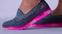 SKETCHERS combined Comfort Flex Technology with a GOga Mat insole to create the flexible and comfortable GO FLEX Walk athletic shoe.
