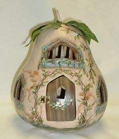 Gourd Light Up Fairy Spring Garden Cottage Hand by FromGramsHouse, $55.00