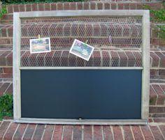 Repurposed Window Message Board by purplepepperco on Etsy, $89.00