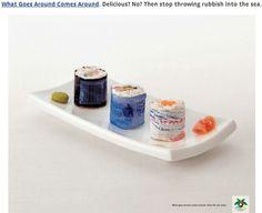 Sea and ocean polution awareness advertisement