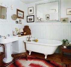 13 tiny bathroom design tricks  hiding pipes in beadboard box
