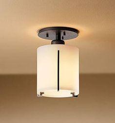Hubbardton Forge 123775 Exos Round Small Semi Flush Ceiling Light