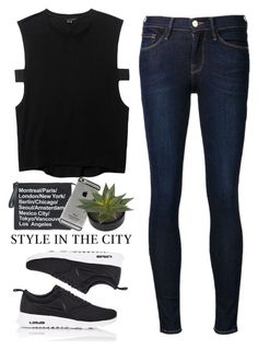 """""""- Style in The City -"""" by lolgenie ❤ liked on Polyvore featuring Frame Denim, Theyskens' Theory and NIKE"""