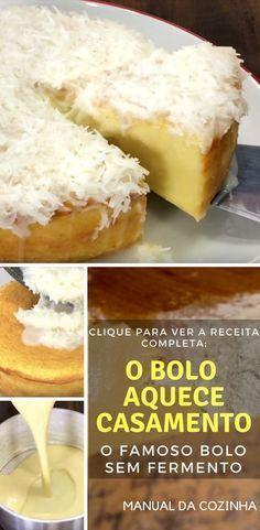 Receita de Bolo sem Fermento, fica maravilhoso! #receita #bolo #comida #culinaria #chef #manualdacozinha #aguanaboca