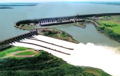 The Itaipu hydroelectric plant at the border of Brazil and Paraguay is 14GW, which made it the biggest hydroelectric power plant next to the Three Gorges Dam, in China. In 2011, Itaipu generated 92,24 TWh, or 17% of the total energy consumed in Brazil and 73% in Paraguay.