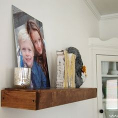 DIY Floating Shelves for less than $20.