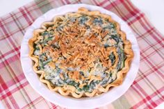Michael Symon's Creamed Spinach Pie I don't see the need for the piecrust but the creamed spinach looks awesome!