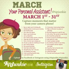 March Photo Journal Prompts ~ Join Us! Monthly Celebration, Tip Junkie, Bullet Journal Month, Animal Makeup, Photography Challenge, Photography Business, Envelope System, Journal Prompts, Journals