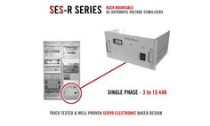 """Specifically designed for the 19"""" rack environment the SES-R range of rack mountable Single Phase AC Voltage Stabilisers offer similar voltage protection features to our standard SES range.  Able to withstand high instantaneous overloads, SES-R stabilisers are completely unaffected by power factor & load variations.  With ratings from 3 to 15 kVA please checkout - http://www.AshleyEdison.com/products/rack-mount-voltage-stabiliser.htm"""