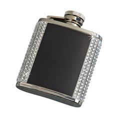 Creative Gifts International Crystal Flask with Plates Finish: Black