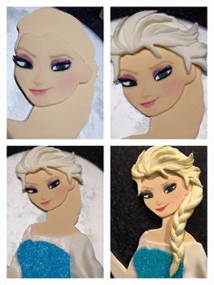 tutorial figures of Anna and Elsa on the cake - Поиск в Google