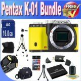 Get Low-cost Pentax K-01 16MP APS-C CMOS Compact System Digital camera [Body] (Yellow) + Extended Life Battery + 16GB SDHC Class 10 Memory Card + USB Card Reader + Memory Card Wallet + Deluxe Case w/Strap + Shock Evidence Deluxe Scenario + Mini HDMI to HDMI Cable + Professional Complete Dimension Tripod + Accent Saver Bundle! For Sale On the web - http://buyingmanual.com/get-low-cost-pentax-k-01-16mp-aps-c-cmos-compact-system-digital-camera-body-yellow-extended-life-battery-1