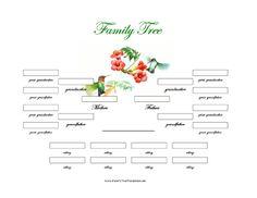 printable family tree outline