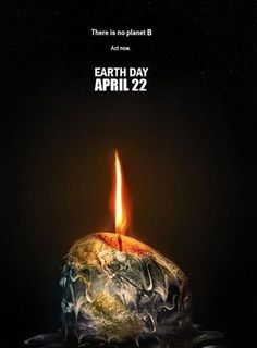 Claro mensaje metafórico sobre el calentamiento global, representando a el planeta tierra como una vela derritiéndose a punto de consumirse.