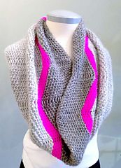 Ravelry: Chevron Pop Cowl pattern by Hilary Carr