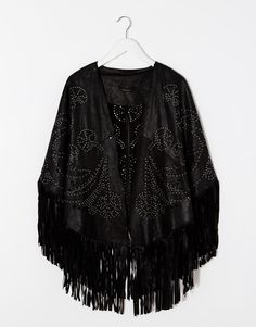 Image 2 ofRiver Island Leather Studded Laser Cut Cape