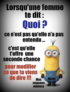 49 Best Ideas For Quotes Funny Minions Laughing Minion Humour, Funny Minion, Some Jokes, Frases Humor, Image Fun, Life Quotes Love, French Quotes, Minions Quotes, Super Quotes