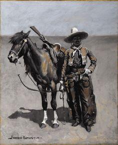 A Mexican Buccaro - In Texas (Frederic Remington - 1890)
