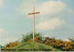 Rustic cross at Easter. Photograph Roy A Higgins