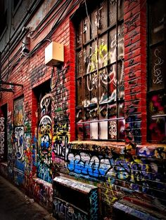 It's the Ann Arbor graffiti alley off of Liberty Street (showing off a bit of our hardcore side)! http://visitannarbor.org