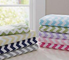 Harper Chevron Stripe Crib Sheeting #PotteryBarnKids