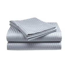 Queen Size Silver Classic Sateen Dobby Stripe Sheet Set ($18) ❤ liked on Polyvore featuring home, bed & bath, bedding, bed sheets, queen sateen sheet sets, sateen sheet sets, queen sheet sets, stripe bedding and striped sheet set