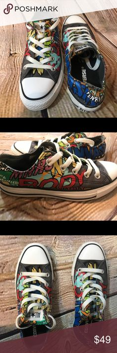 Converse Chuck Taylor rare Sci Fi Ox Printed shoes So cute! Excellent condition! Size Women's 6. Converse Shoes Sneakers