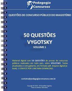 Apostila Vygotsky - Apostila com questões de concursos públicos em pdf.