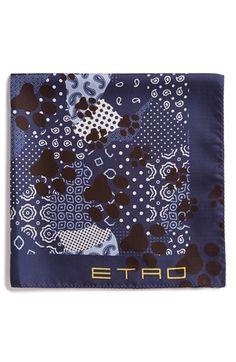 Etro Bandana Paw Print Pocket Square