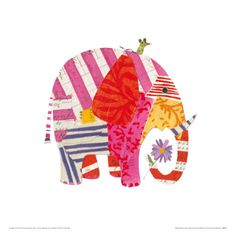 Big Elephant, Little Mouse Giclee Print