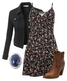 """""""HBIC - Elena Gilbert"""" by magikate ❤ liked on Polyvore featuring LE3NO, Dorothy Perkins, Frye and BillyTheTree"""