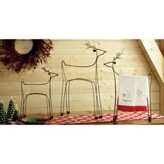 Find it at the Foundary - Festive Prancing Reindeer - Set of 3