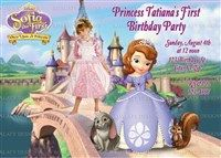 Printable Sofia the First Birthday Party Invitations