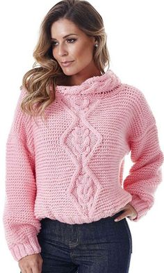 Free Knitting Patterns - Sweater with Diamond Cable Pattern 71d70774f