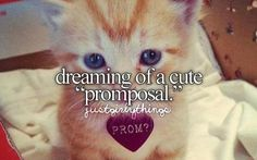 """Dreaming of a cute """"promposal"""" If I ever get one!"""