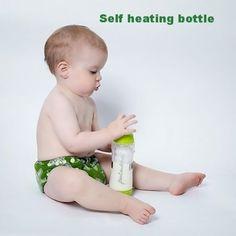 Self heating baby bottle