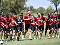 The Wanderers had their final training session at Blacktown International Sportspark on Monday.