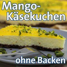 Mango Cheesecake ohne Backen - leckeres Kuchenrezept