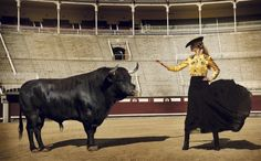 Pura Sangre | Laura Sánchez in the bullring of Las Ventas (Madrid) by Mario Sierra for LifeStyle, April 2012