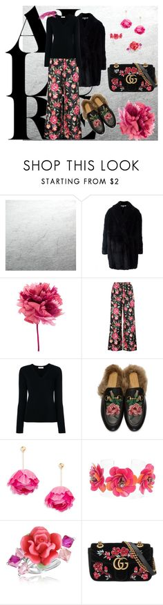 """ROSAS"" by grettelcabrera on Polyvore featuring moda, McQ by Alexander McQueen, Ann Demeulemeester, Dolce&Gabbana, Pringle of Scotland, Gucci, Aurélie Bidermann, Forest of Chintz y Dolci Gioie"